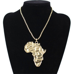 HipHop Necklace Ancient ANKH Egyptian African Map Pendant Necklace