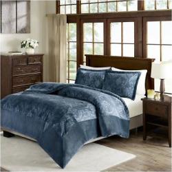 Blue Trenton Textured Plush Comforter Mini Set (King/California King) – Jla Home