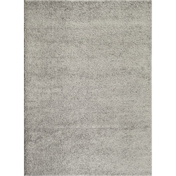 World Rug Gallery Florida Soft Cozy Solid Shag Rug, Grey