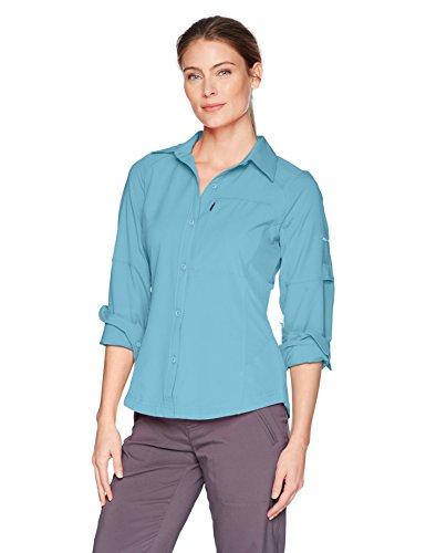 Columbia Women's Silver Ridge Long Sleeve Shirt, Blue Sky, X-Large