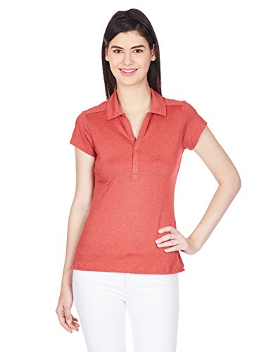 Columbia Women's Shadow Time Polo Shirt, Red Hibiscus, Small