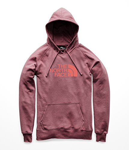 The North Face Womens Half Dome Pullover Hoodie – Fig Heather & Faded Rose – L