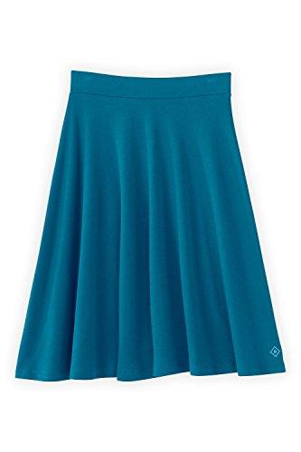 Fair Indigo Fair Trade Organic Full Skirt (S, Tile Blue)