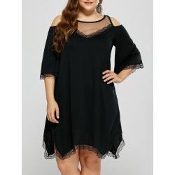 Sheer Mesh Plus Size Dress
