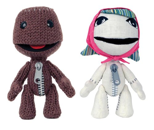 LittleBigPlanet Sackgirl/Sackboy 6″ Plush – 2 Pack Bundle
