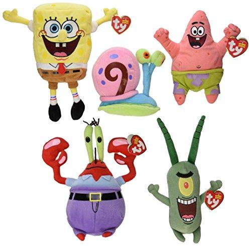 TY Beanie Babies – SPONGEBOB SQUAREPANTS Beanies ( Set of 5 ) (Spongebob, Pat…