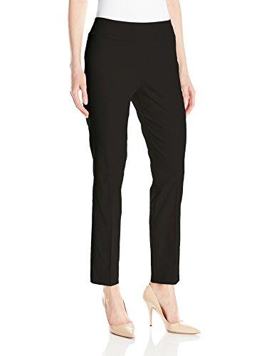 Tribal Women's Flatten It Pull-On Slim Leg Ankle Pant, Black, 8