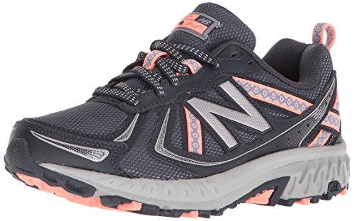 New Balance Women's WT410v5 Cushioning Trail Running Shoe, Thunder, 7 D US