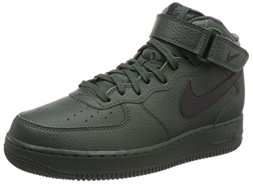 NIKE Men's Air Force 1 Mid '07 Basketball Shoe, Grove Green/Black-Grove Green, 10.5