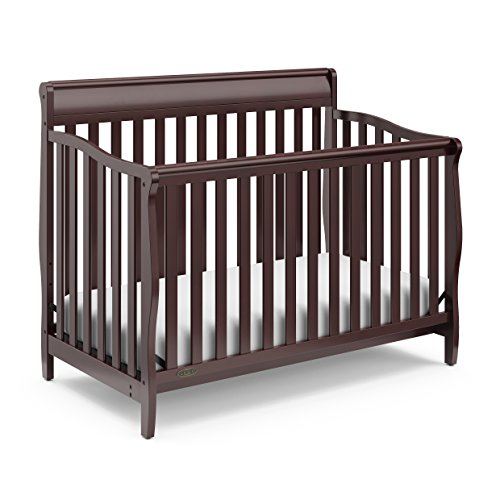 Graco Stanton Convertible Crib, Espresso, Easily Converts to Toddler Bed Day Bed or Full Bed, Three Position Adjustable Height Mattress, Some Assembly Required (Mattress Not Included)