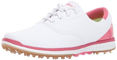 Skechers Performance Women's Go Golf Elite Canvas Golf Shoe,White/Pink,7 M US