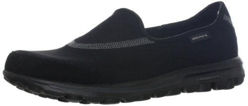 Skechers Performance Women's Go Walk Slip-On Walking Shoe, Black, 7.5 M US
