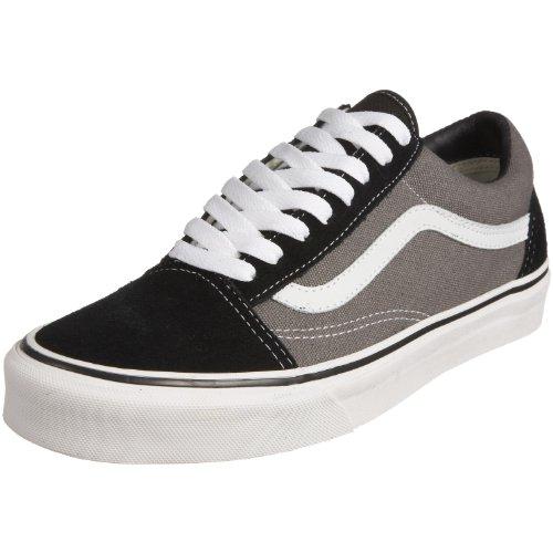 Vans Unisex Old Skool Classic Skate Shoes, Black/Pewter,  Men's 10.5, Women's 12 Medium