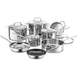 Cuisinart 13-pc. Professional Stainless Steel Cookware Set, Silver