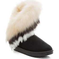 Hairy Flat-bottomed Snow Boot