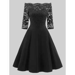 Plus Size Off Shoulder Lace Dress