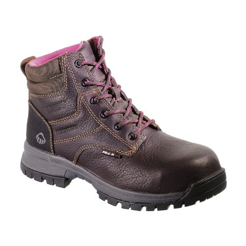 Wolverine Women's Piper Comp Safety Toe Boot,Brown,7 W US