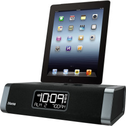 iHome App-Enhanced Dual Alarm Clock Radio, Multicolor