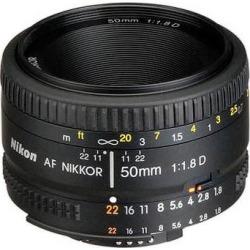 Nikon AF NIKKOR 50mm f/1.8D Lens (Refurbished) 2137B