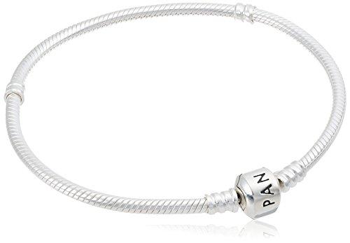 Pandora Women's 590702HV-18 Sterling Silver Barrel Clasp Bracelet, 7.1 Inch