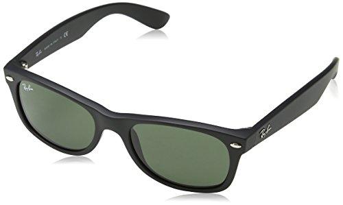 Ray-Ban RB2132 New Wayfarer Sunglasses, Black (622), 52 mm