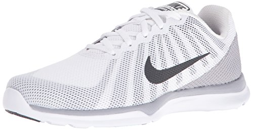 NIKE Women's in-Season TR 6 Cross Trainer, White/Anthracite/Wolf Grey/Stealth, 9 B US
