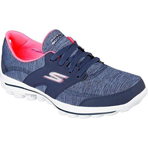 Skechers Performance Women's Go Walk 2 Backswing Golf Shoe,Navy/Pink,8.5 M US