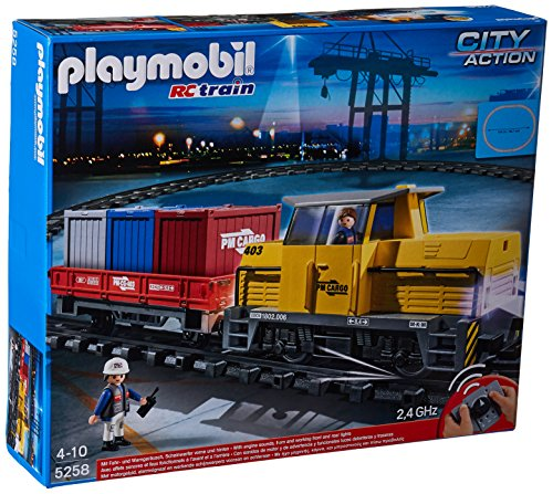 Playmobil 5258 City Action Remote Control (RC) Freight Train – Multi-Coloured
