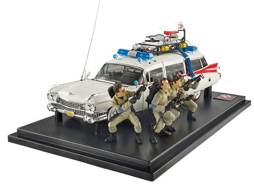 Hot Wheels Elite Ghostbusters Ecto-1 30th Anniversary Edition with Figures (1:18 Scale)