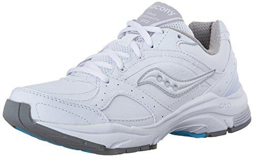 Saucony Women's ProGrid Integrity ST2 Walking Shoe,White/Silver,9 B(M) US (10109-1)