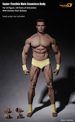 phicen 16 scale super flexible male muscular seamless body pl2016 m34 - Phicen 1/6 Scale Super Flexible Male Muscular Seamless Body PL2016-M34