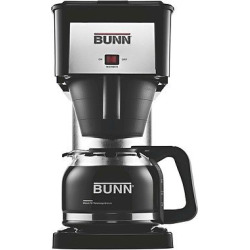 Bunn BX-D Velocity Brew 10-Cup Coffee Brewer, High Altitude, Black/Silver