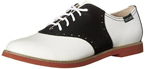 Eastland Women's Sadie Oxford, Black/White, 8.5 M US