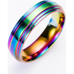 Fashion Colorful Titanium Stainless Steel Ring