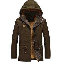 Washing Cotton Winter Jacket Pocket More Military Cap