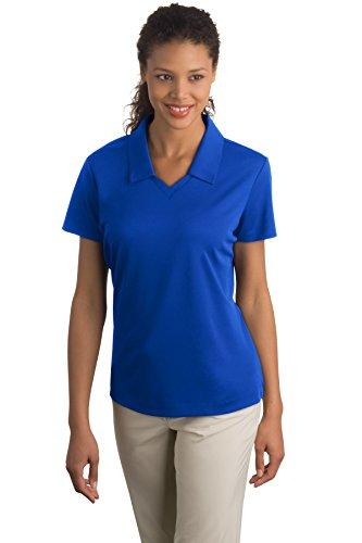Nike 354067 Women's Dri-FIT Micro Pique Polo, Blue Sapphire,XL.