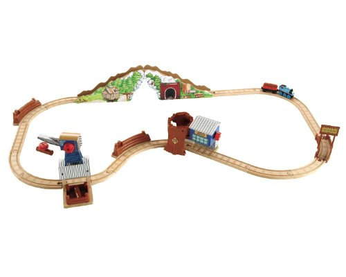Thomas & Friends Fisher-Price Wooden Railway, Tidmoth Timber Co. Deluxe 8 Pack