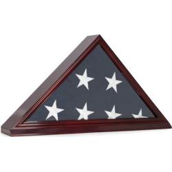 Bey-Berk Memorial Flag Display Case, Brown