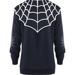 Halloween Plus Size Spider Web Coat