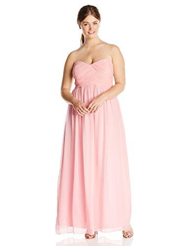 Donna Morgan Women's Plus-Size Strapless Lauren Dress, Blush, 20W