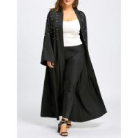 Madden Girl Women's Plus-Size Long Maxi Puffer in Plus Sizes, Black, 1X
