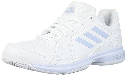 adidas Performance Women's Aspire Tennis Shoe, White/Aero Blue/White, 7 M US
