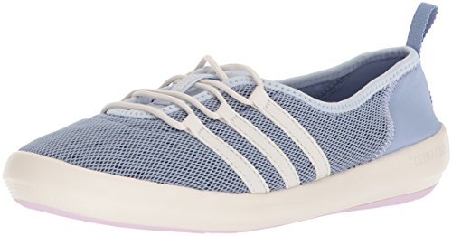adidas outdoor Women's Terrex CC Boat Sleek Walking Shoe, Chalk Blue/Chalk White/Aero Pink, 7 M US