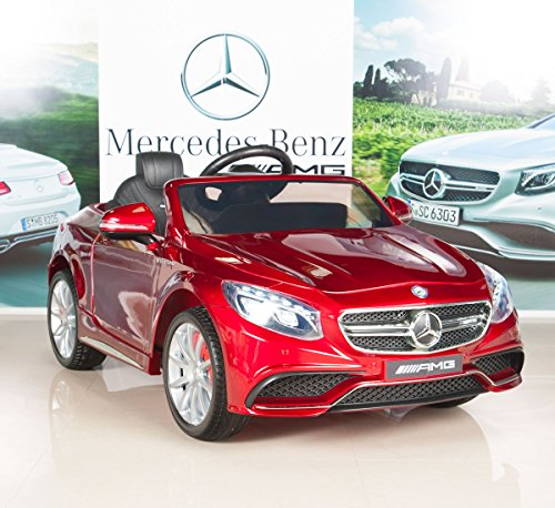 big toys direct mercedes benz s63 ride on car kids rc car remote control - BIG TOYS DIRECT Mercedes-Benz S63 Ride on Car Kids RC Car Remote Control Electric Power Wheels W/ Radio & MP3 Red