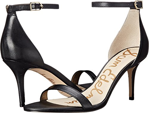 Sam Edelman Women's Patti Dress Sandal, Black Leather, 8.5 Wide US