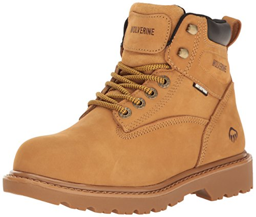Wolverine Women's Floodhand Waterproof 6″ Soft Toe Work Boot, Wheat, 8.5 M US