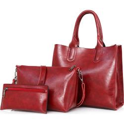 Leather Tote Bag Set