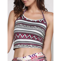 Geometric Print Women's Crop Top
