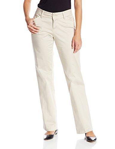 LEE Women's Modern Series Curvy Fit Maxwell Trouser, Parchment, 14 Short