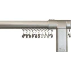 erod Center-Open Remote Controlled Motorized Adjustable Curtain Rod, Grey